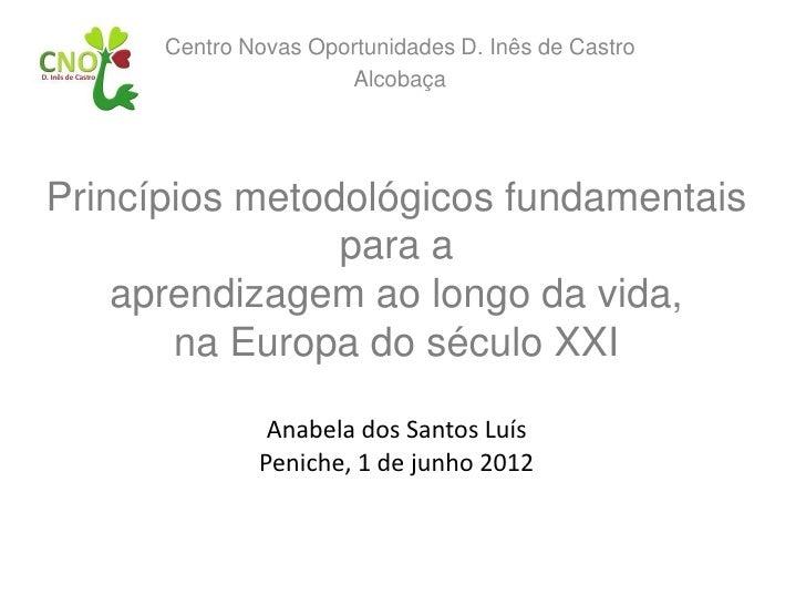 Centro Novas Oportunidades D. Inês de Castro                      AlcobaçaPrincípios metodológicos fundamentais           ...