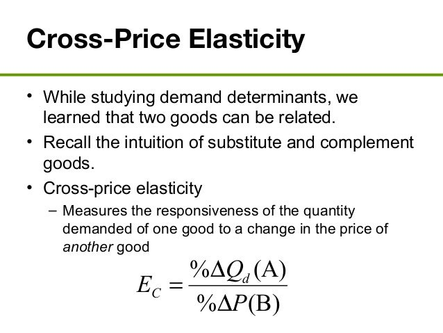 an examination of the determinants of price elasticity of demand Economics - download as (the examination will be held for the first time 27 examines the rational decision determinants of price elasticity of demand.