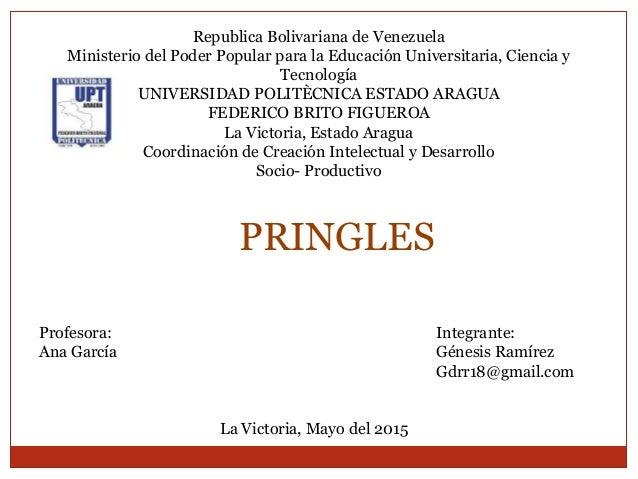 Republica Bolivariana de Venezuela Ministerio del Poder Popular para la Educación Universitaria, Ciencia y Tecnología UNIV...