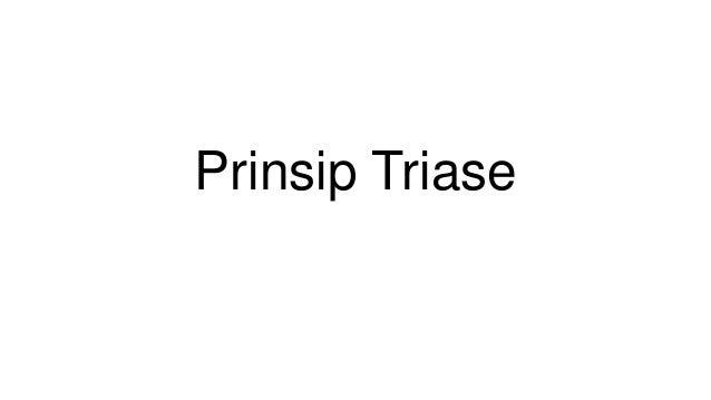 Prinsip Triase