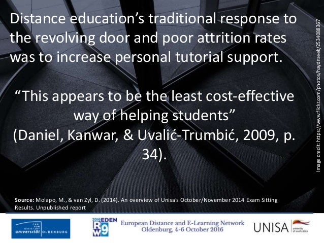 Imagecredit:https://www.flickr.com/photos/haydnseek/2534088367 Distance education's traditional response to the revolving ...