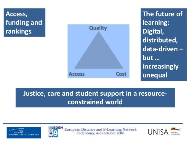 Imagecredit:https://www.flickr.com/photos/haydnseek/2534088367 Access, funding and rankings Justice, care and student supp...