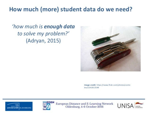 Imagecredit:https://www.flickr.com/photos/haydnseek/2534088367 How much (more) student data do we need? 'how much is enoug...