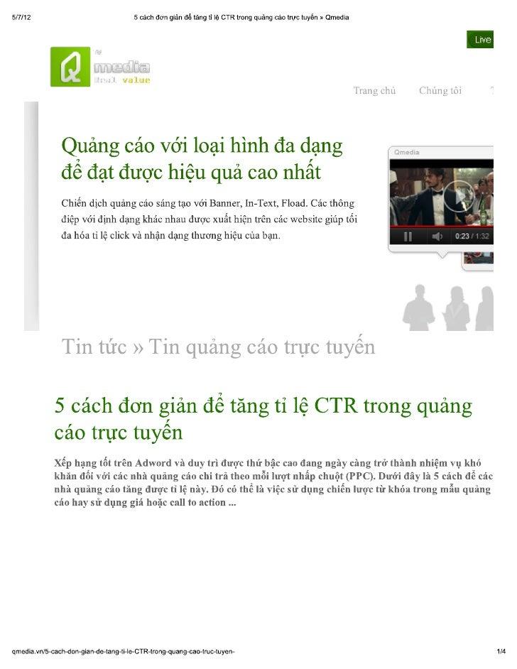5 cách đơn giản để tăng tỉ lệ ctr trong quảng cáo trực tuyến » qmedia