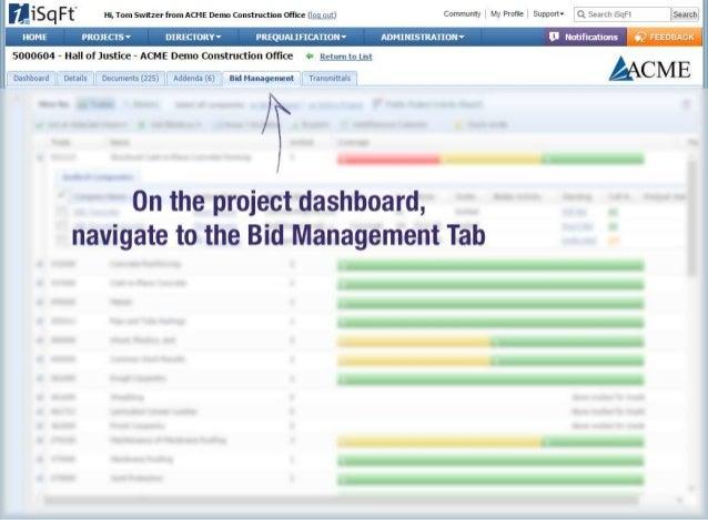iSqFt - Bid Management - Print Filtered Bidders List