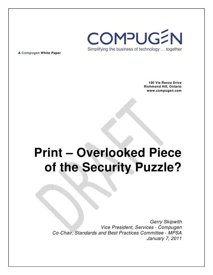 A Compugen White Paper                                                             100 Via Renzo Drive                    ...