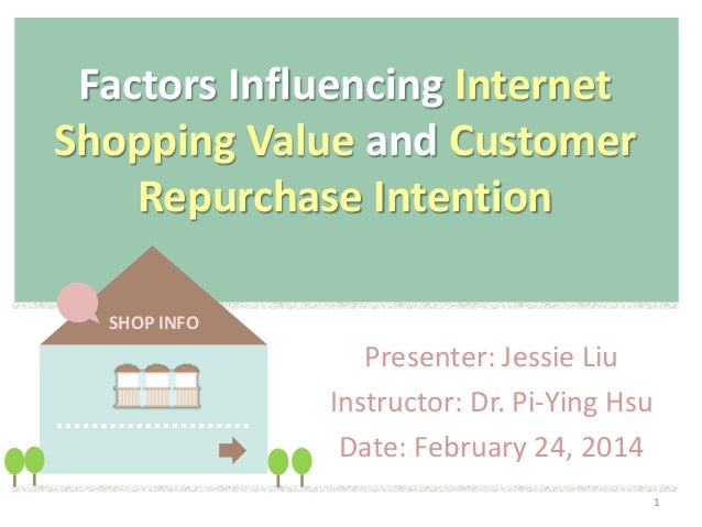 Factors Influencing Internet Shopping Value and Customer Repurchase Intention SHOP INFO  Presenter: Jessie Liu Instructor:...