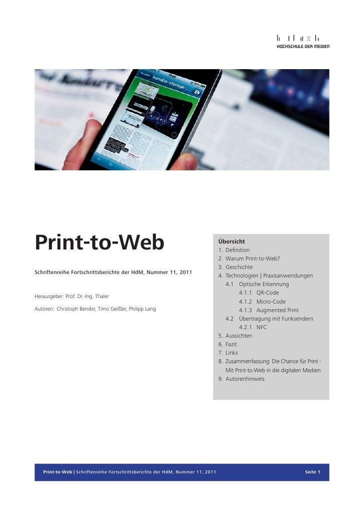 Print-to-Web                                                                     Übersicht                                ...