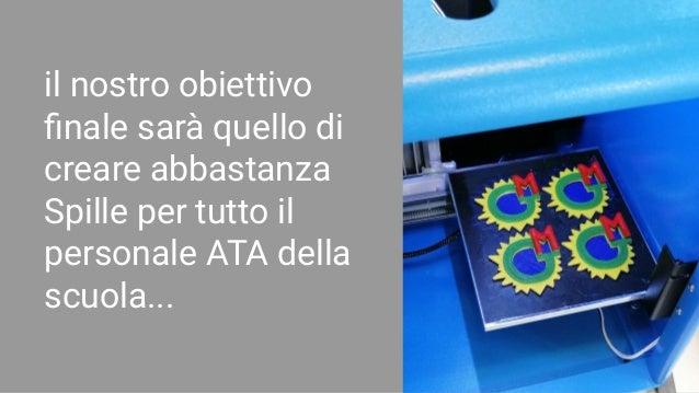 il nostro obiettivo finale sarà quello di creare abbastanza Spille per tutto il personale ATA della scuola...