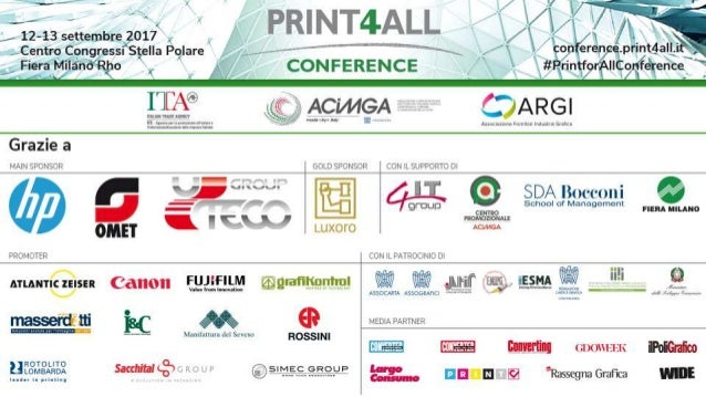 #Print4AllConference12-13 settembre 2017 Paolo Iabichino Chief Creative Officer Group Ogilvy & Mather Italia