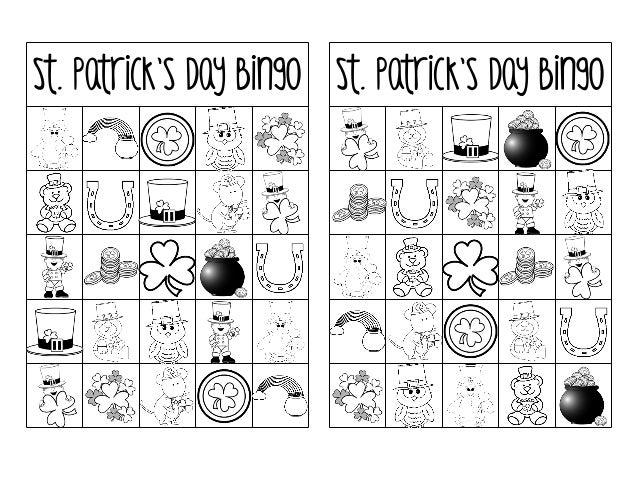 picture relating to St Patrick's Day Bingo Printable known as Printable st-patricks-working day-bingo