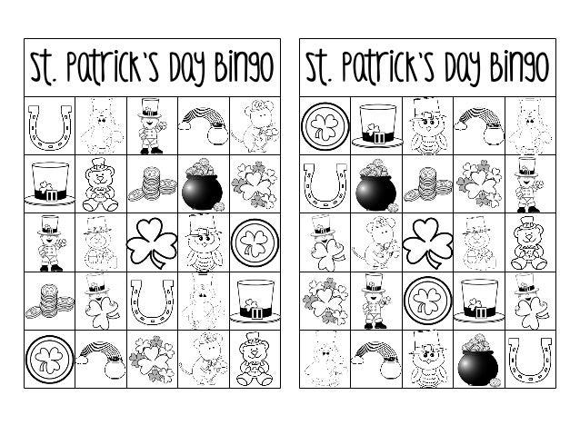 photograph relating to St Patrick's Day Bingo Printable titled Printable st-patricks-working day-bingo