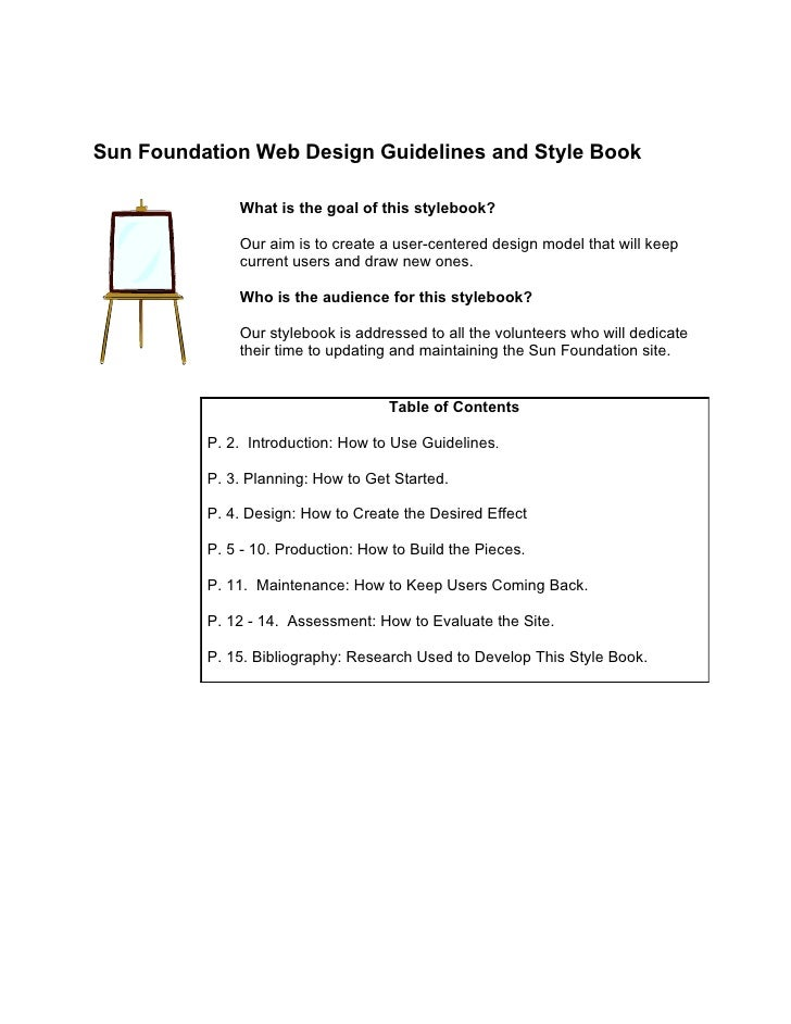 Sun Foundation Web Design Guidelines and Style Book                What is the goal of this stylebook?                Our ...