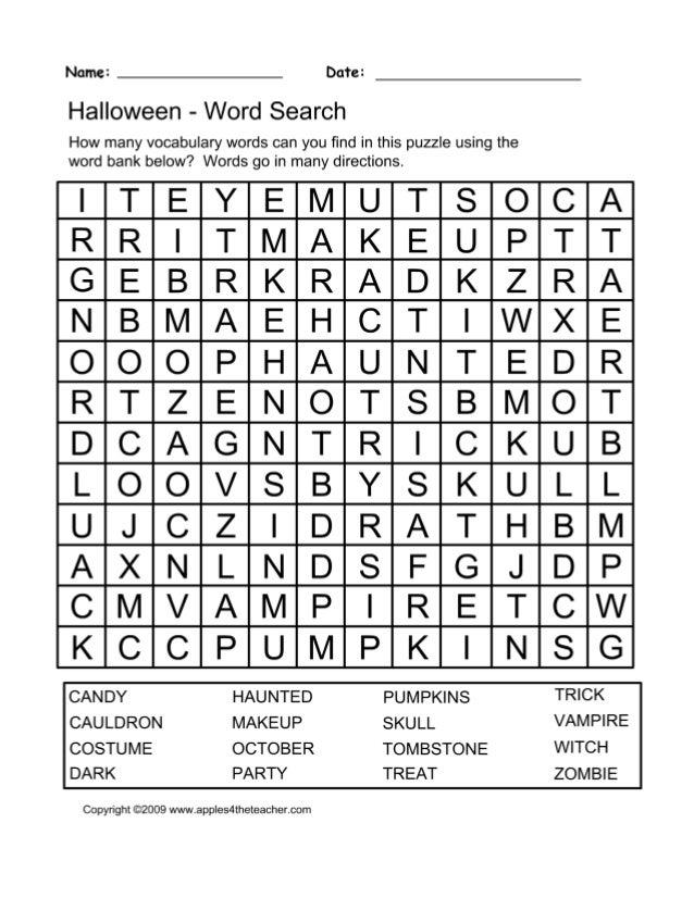 photo regarding Halloween Word Search Puzzles Printable named Printable halloween phrase glance puzzle spooky halloween
