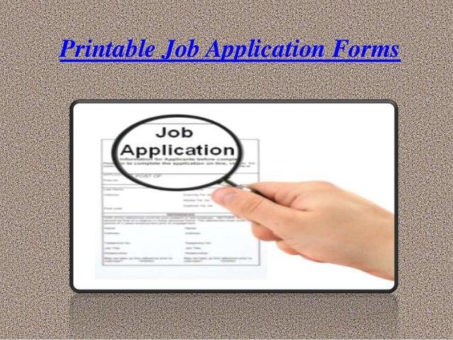 printable jobs applications