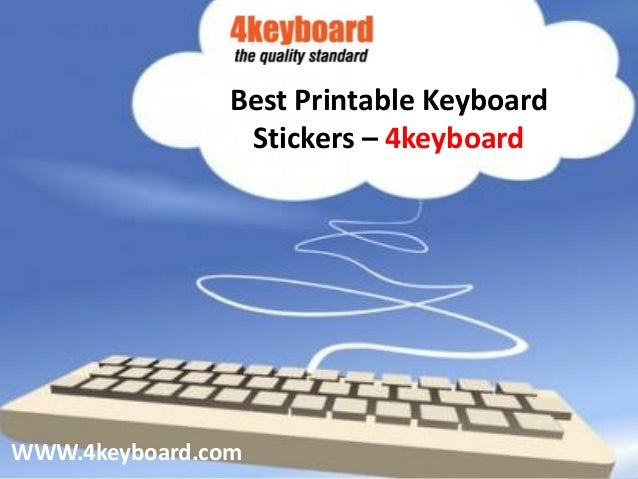 image regarding Printable Keyboard Stickers identified as Least complicated Printable Keyboard Stickers 4keyboard