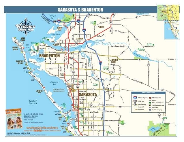 A Map of Beautiful Sarasota