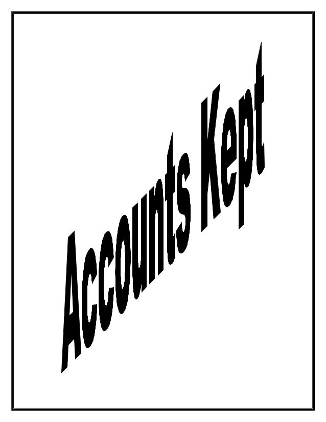 principle of accounts sba