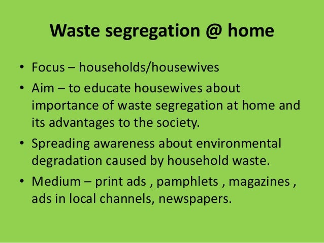 importance associated with fritter away segregation essay