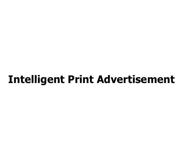 Intelligent Print Advertisement
