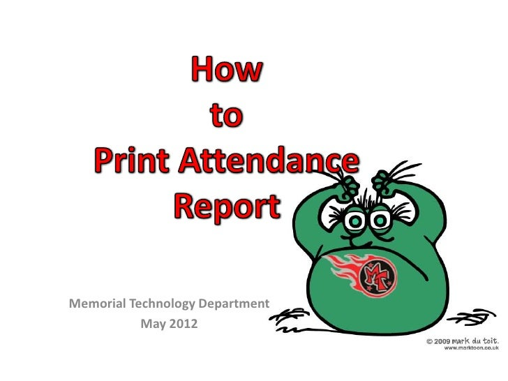Memorial Technology Department           May 2012