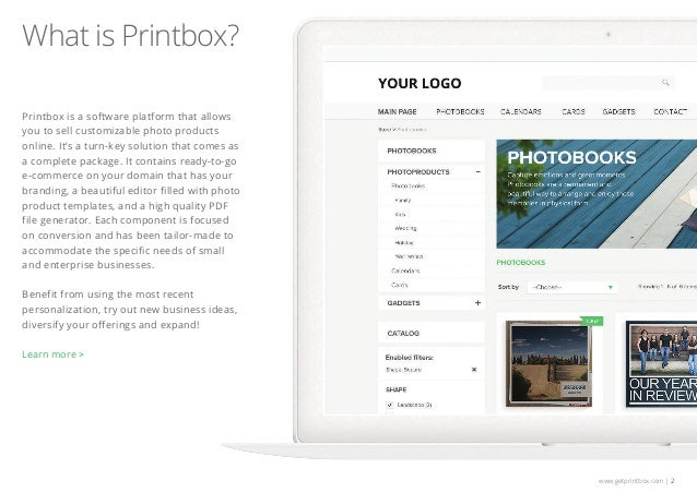 Printbox Photo Product Online Software - Quick Preview Slide 2
