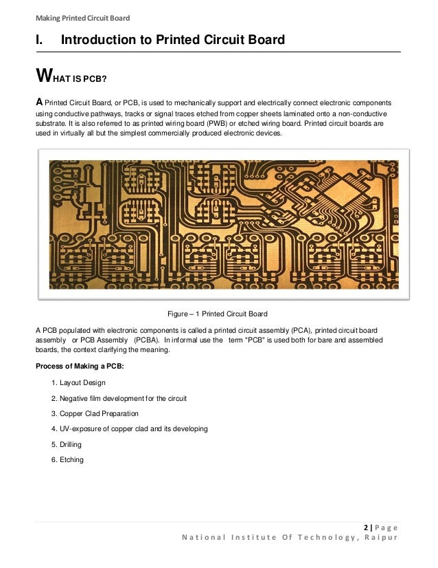printed circuit board a laboratory process for making pcb rh slideshare net Printed Wiring Board Standards Printed Wiring Board Standards