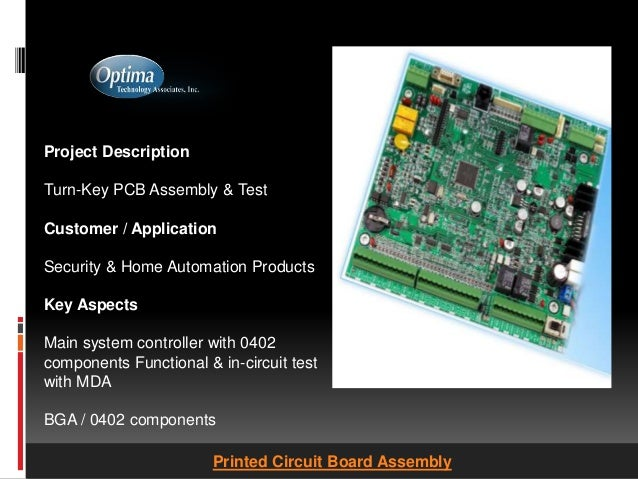 Printed Circuit Board Assembly - Optimatech