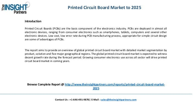 Global Printed Circuit Board Market Size, Share, Growth, Trends and F…