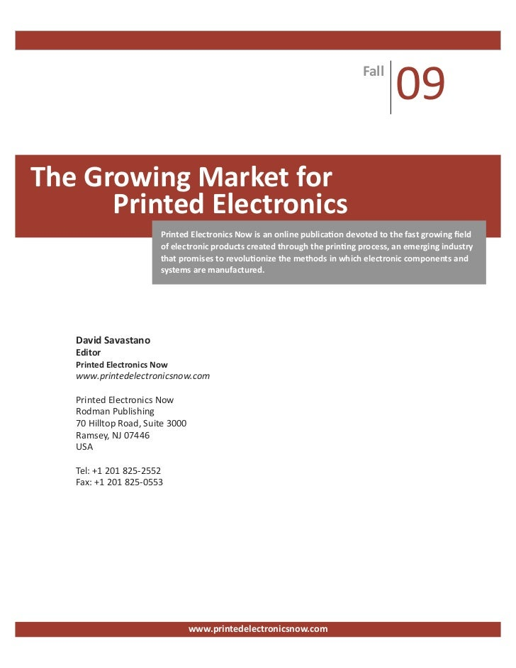 Fall                                                                                    09The Growing Market for      Prin...
