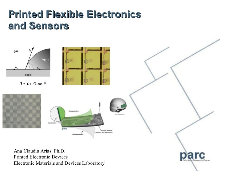 Printed Flexible Electronics  and Sensors Ana Claudia Arias, Ph.D. Printed Electronic Devices Electronic Materials and Dev...