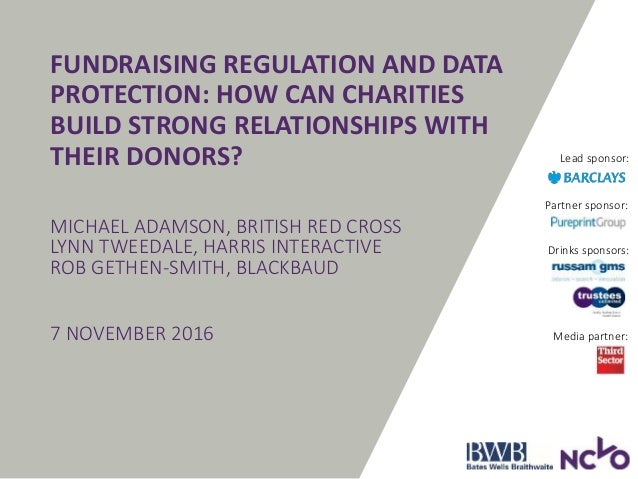 Trustee Conference PM3: Fundraising regulation and data ...