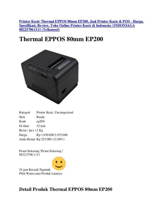 Printer Kasir Thermal EPPOS 80mm EP200, Jual Printer Kasir ...