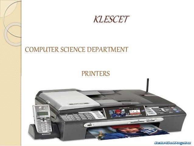 KLESCET COMPUTER SCIENCE DEPARTMENT PRINTERS