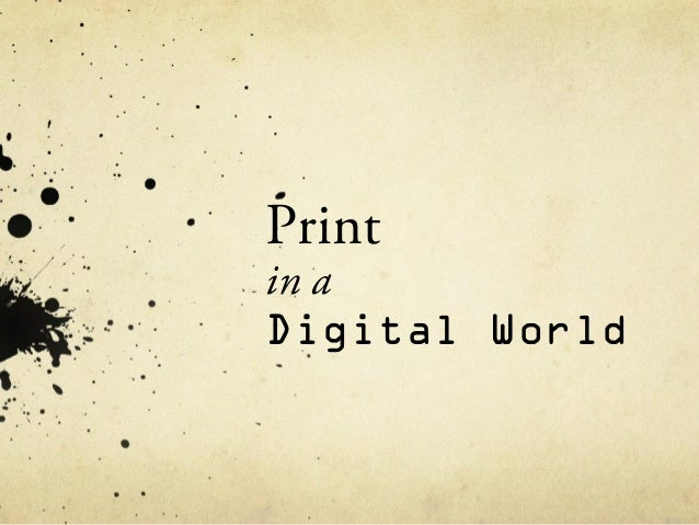 Printin aDigital World