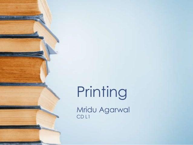 Printing Mridu Agarwal CD L1