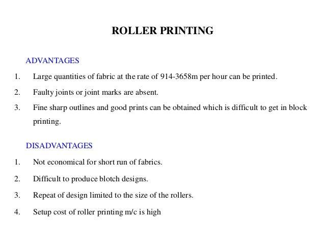 roller printing advantages