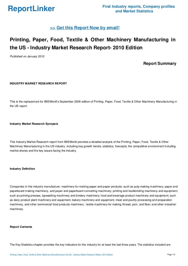 Food service research paper