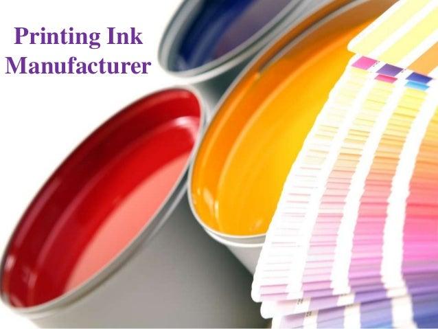 Printing InkManufacturer