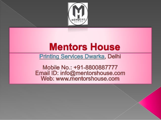  Our prominent services  Following list would provide you a fair idea about our major services. We offer:  Printing Ser...
