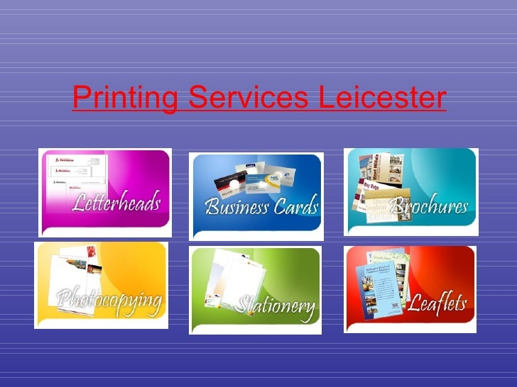Printing Services Leicester
