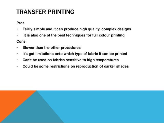 T Shirt Printing Techniques Explained Cons And Pros