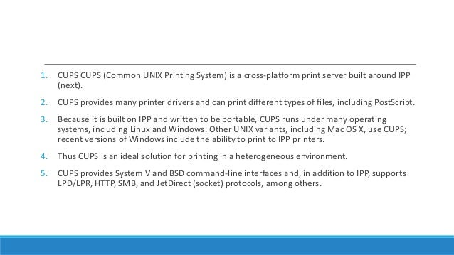 Printing with cups (linux)