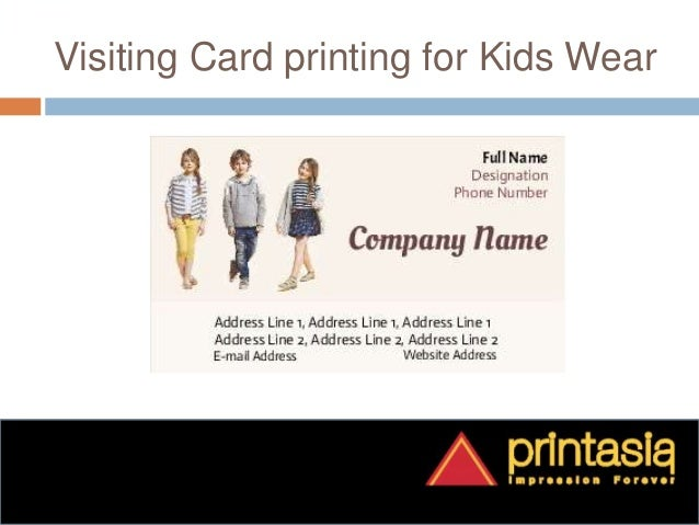 Print kids wear business visiting cards printasia printasia impression forever kids wear visiting cards samples 2 colourmoves Gallery