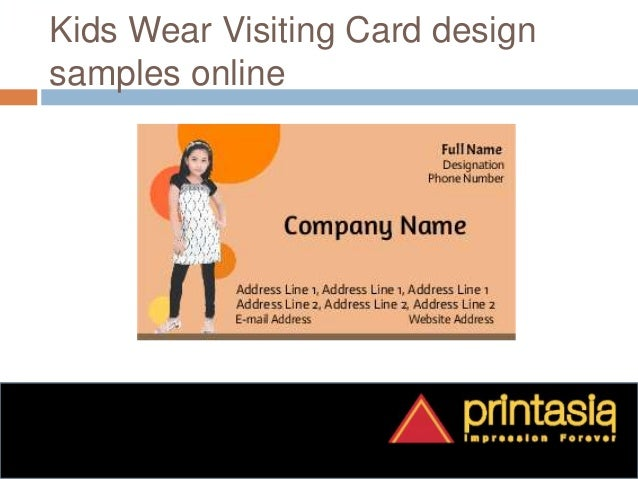 Visiting Card Printing For Kids Wear 3
