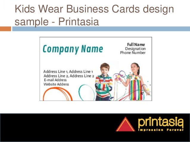 Print kids wear business visiting cards printasia business cards printing for kids wear printasia 7 colourmoves
