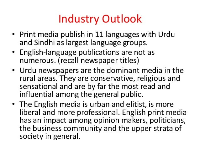print media industry The state of the news media fact sheets use a range of different methodologies to study the health of the us news industry, including custom analysis of news audience behavior, secondary analysis of industry data and direct reporting to solicit information unavailable elsewhere.