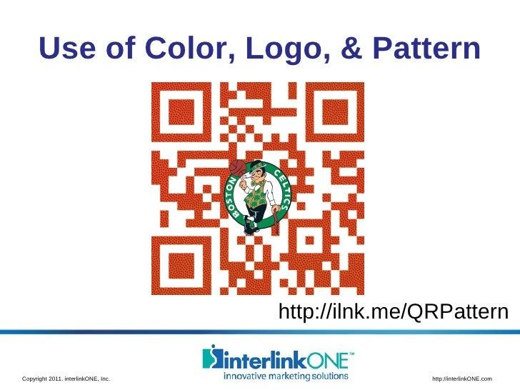 Use of Color, Logo, & Pattern http://ilnk.me/QRPattern