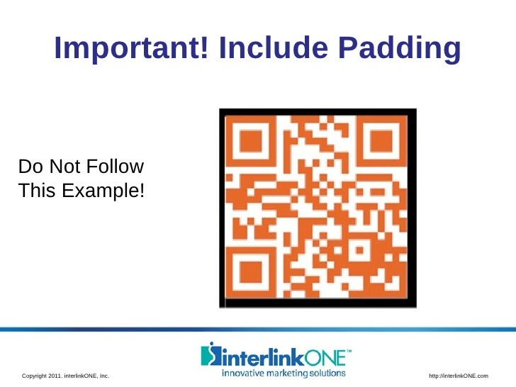 Important! Include Padding Do Not Follow  This Example!