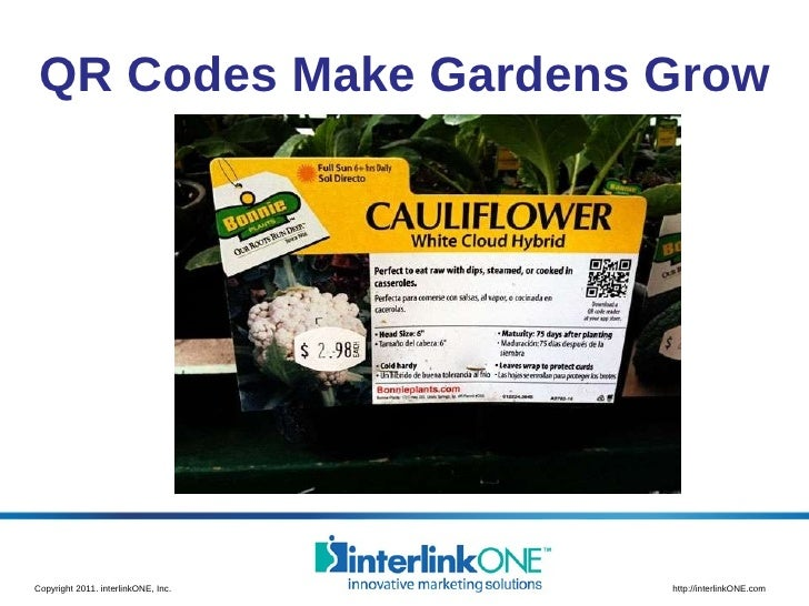 QR Codes Make Gardens Grow